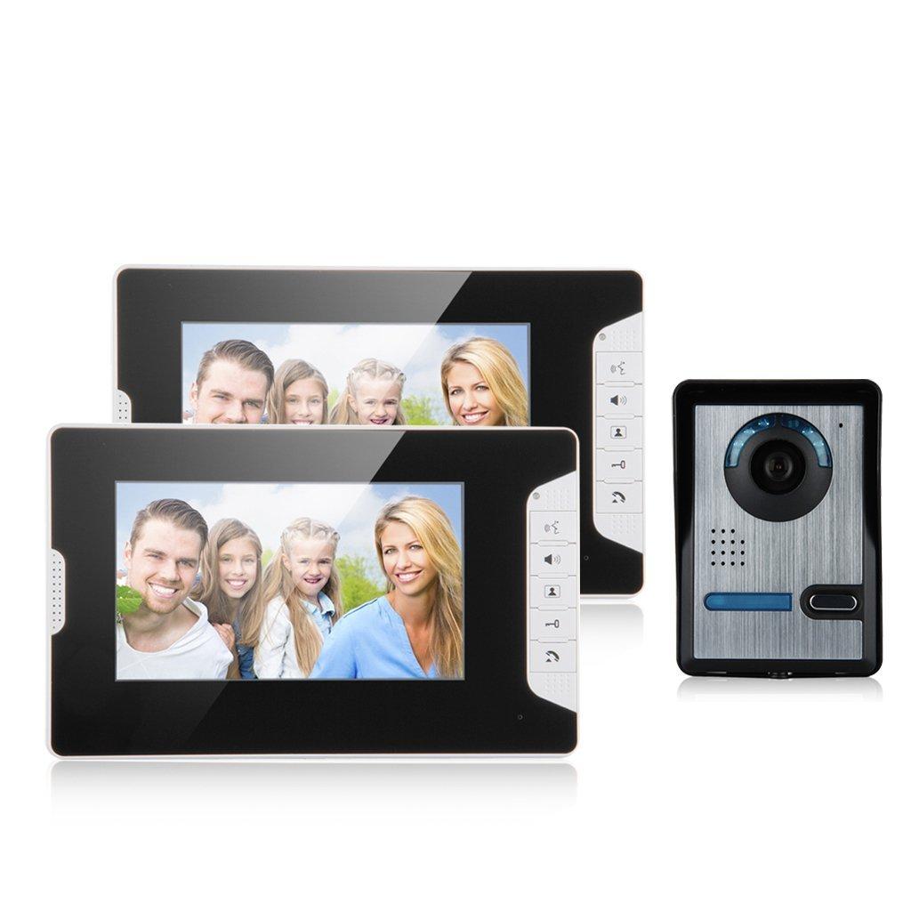 Portier vidéo Excelvan 813FA12 Wired 7 %22TFT Portier Sonnette Système de Sécurité Interphone