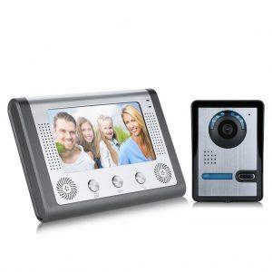 Portier vidéo Excelvan 801FA11 Wired 7 %22TFT Portier Sonnette Système de Sécurité Interphone