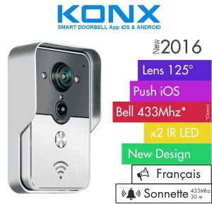 KONX® Doorbell Interphone Portier Video IP Réseau Wifi RJ45